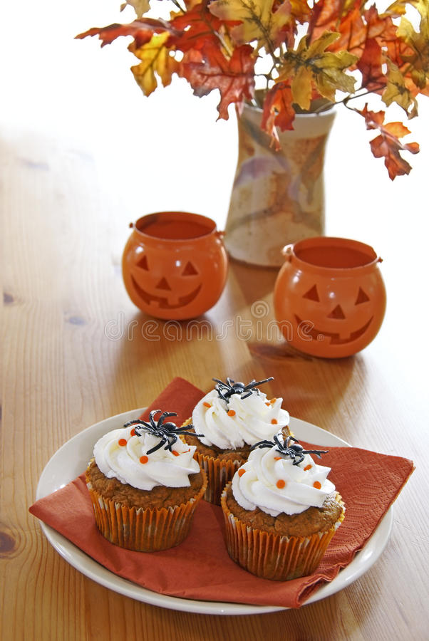 Download Halloween cupcakes stock photo. Image of leaves, decorated - 16719856