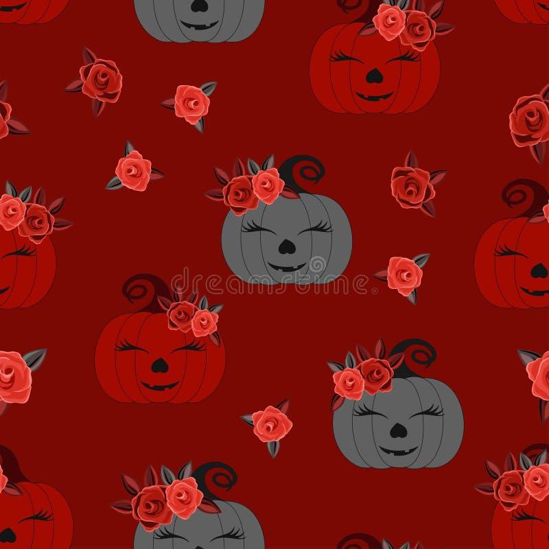 Halloween cute background pumpkin royalty free illustration