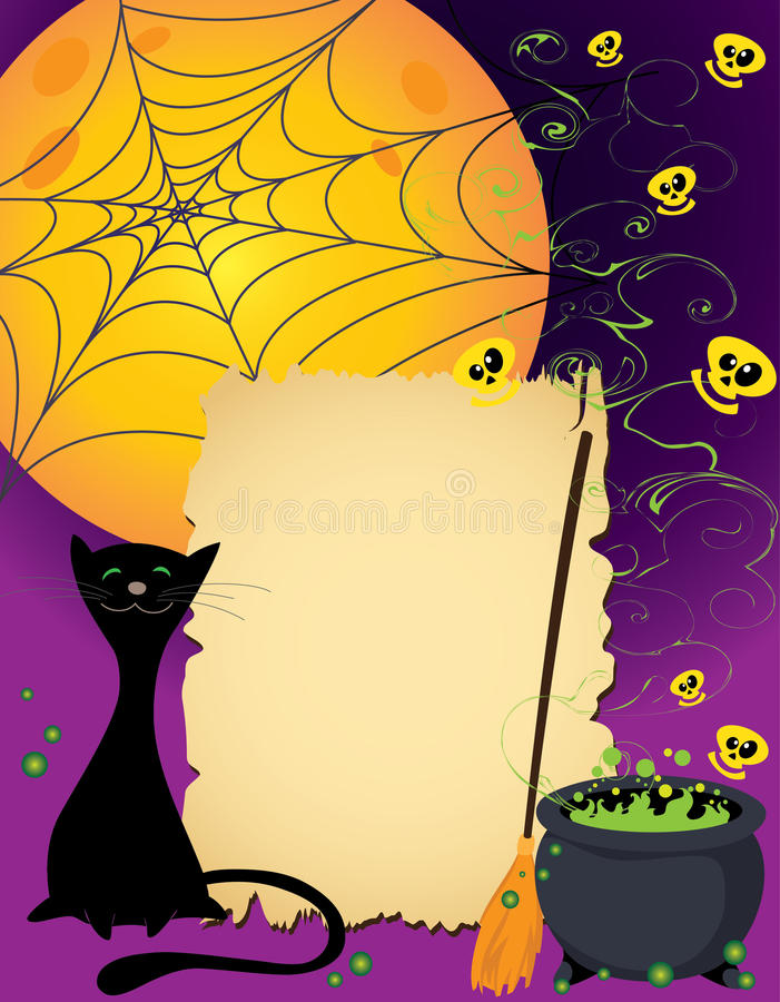Download Halloween cute card stock vector. Image of spooky, smile - 21338412