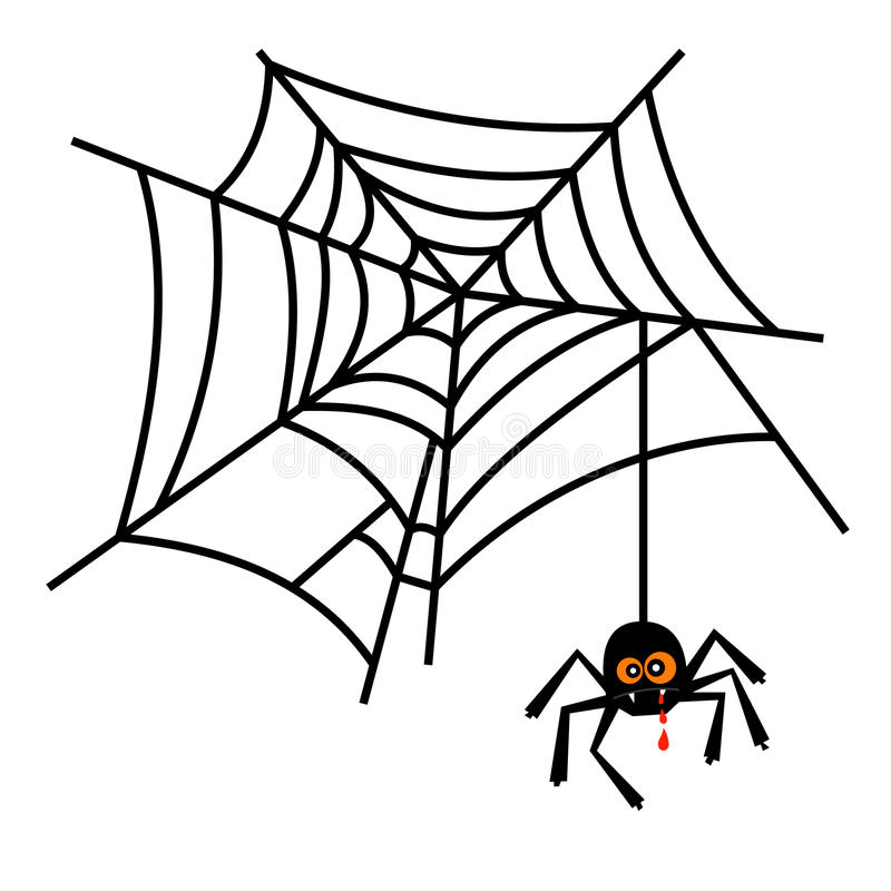 halloween cute spider on web vector stock vector illustration of rh dreamstime com spider web vector art spider web vector art