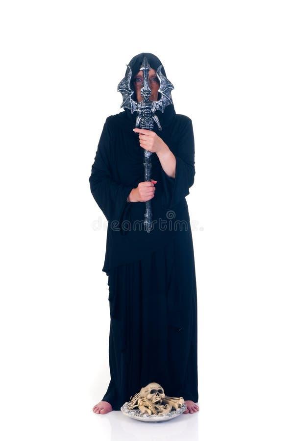 halloween czarnoksiężnik zdjęcia stock