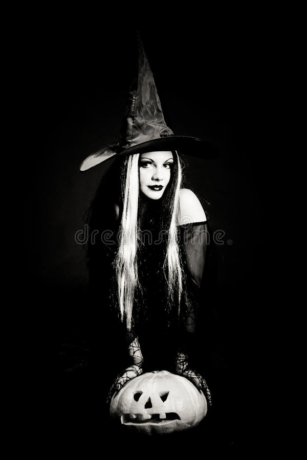 halloween czaszki czarownica zdjęcie royalty free