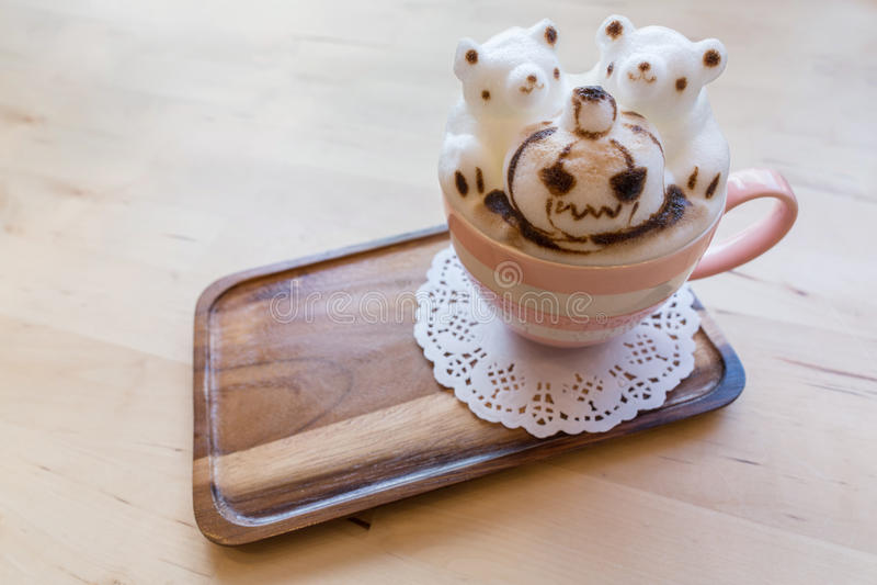 Halloween 3D coffee latte art royalty free illustration