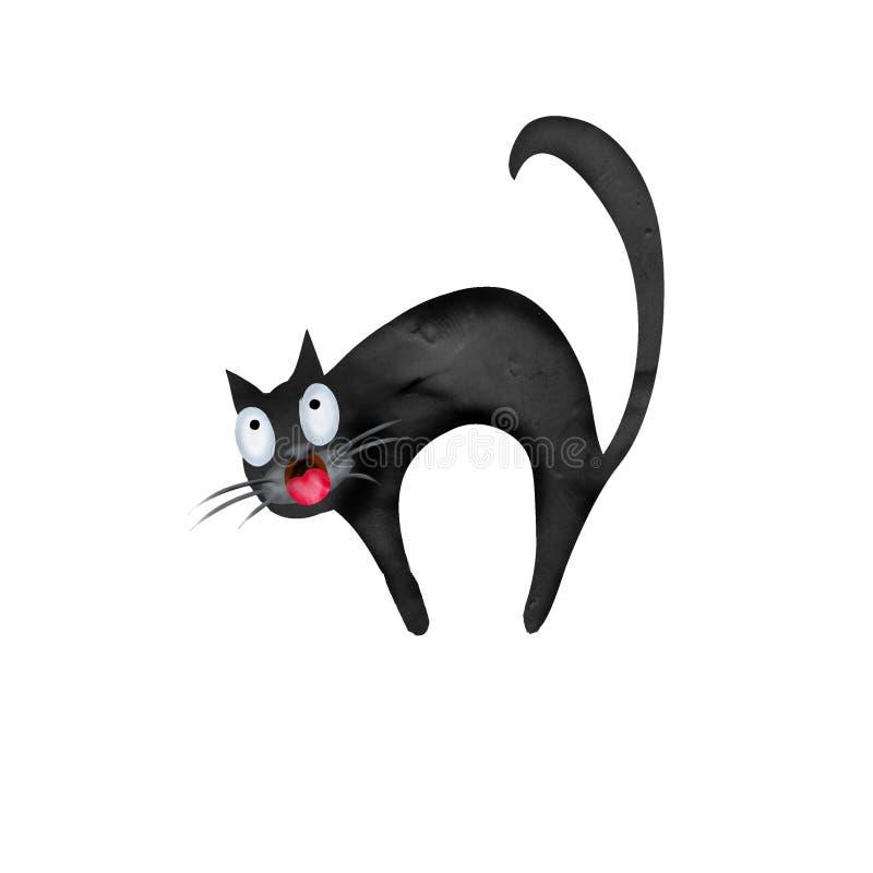Halloween-3d pictogram van de Plasticine het zwarte kat vector illustratie