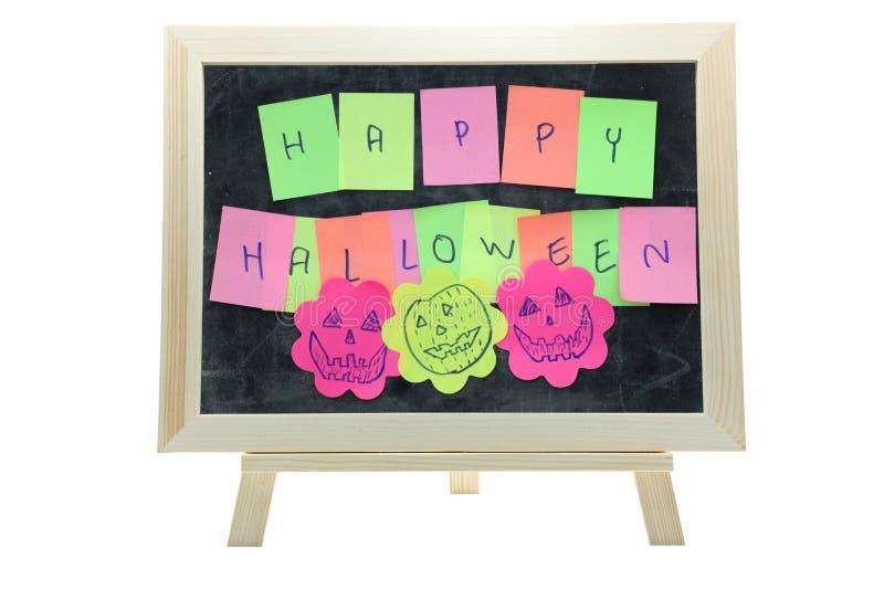 Halloween da vara do memorando foto de stock