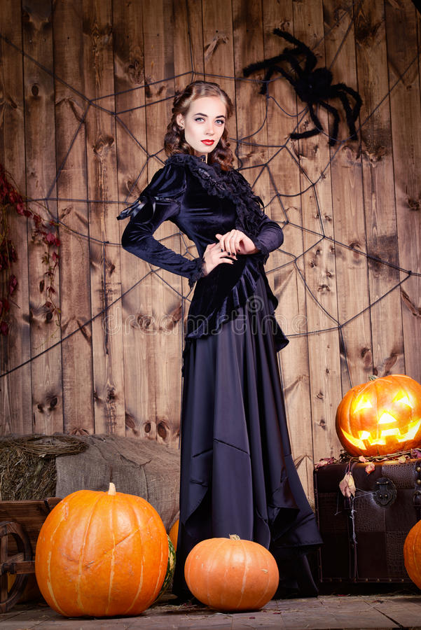 Halloween-dame stock fotografie