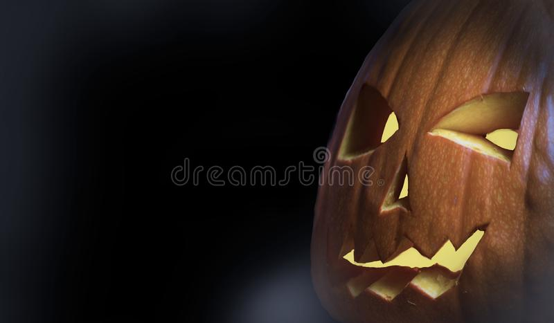 Halloween dark black background. Spooky pumpkin fantasy scary texture. Halloween dark black background. Spooky pumpkin colors fantasy horror stock image