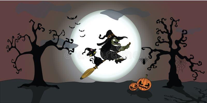 Halloween dark night  illustrator stock photo