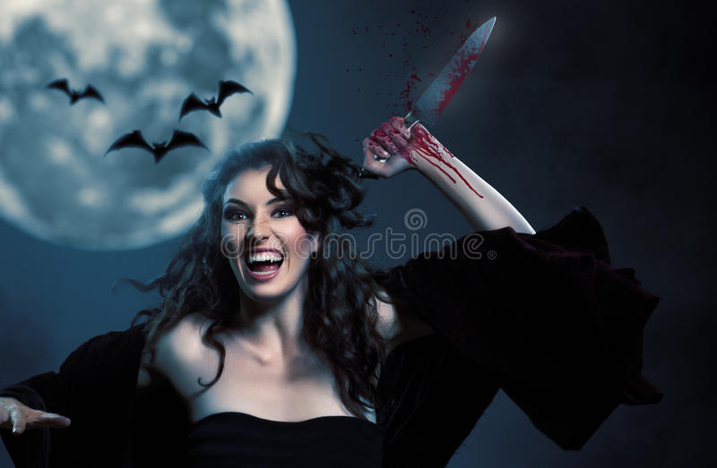 Download Halloween day stock photo. Image of beauty, devil, danger - 26724200