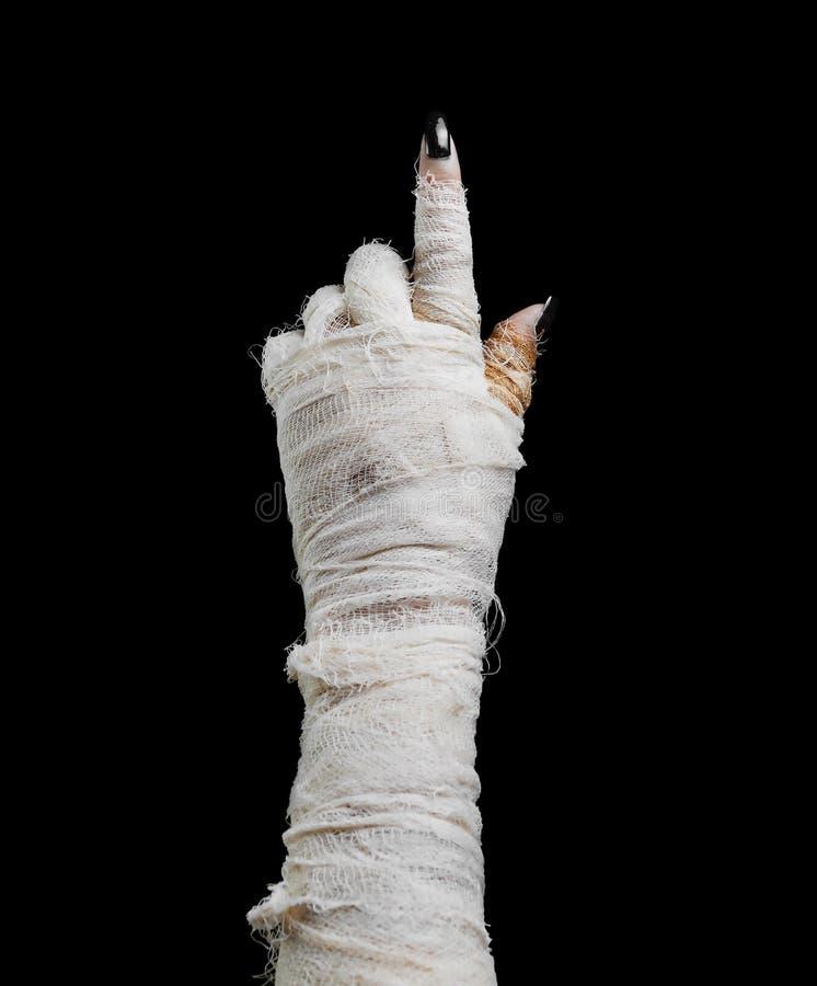 Halloween-de brij richt de vinger stock fotografie
