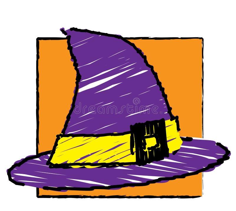 Halloween - de hoed van de Heks vector illustratie