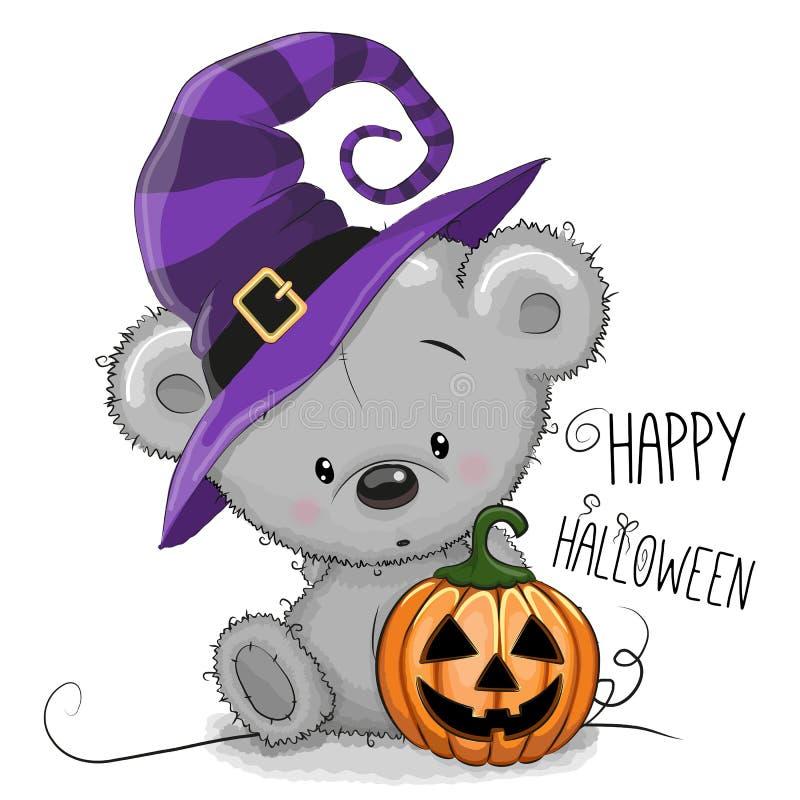 Halloween-de illustratie van Beeldverhaal draagt vector illustratie