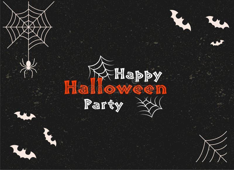 Halloween-de kaart vectorbeeld van de Partijgroet stock illustratie