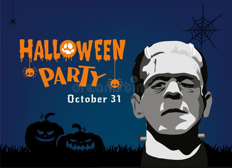 Halloween-de kaart vectorbeeld van de Partijgroet vector illustratie