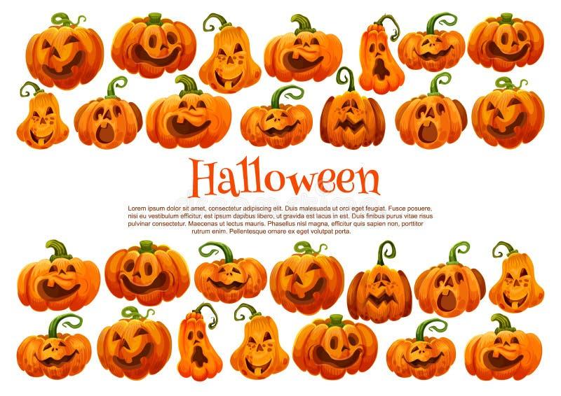 Halloween-de lantaarn feestelijke banner van de vakantiepompoen royalty-vrije illustratie