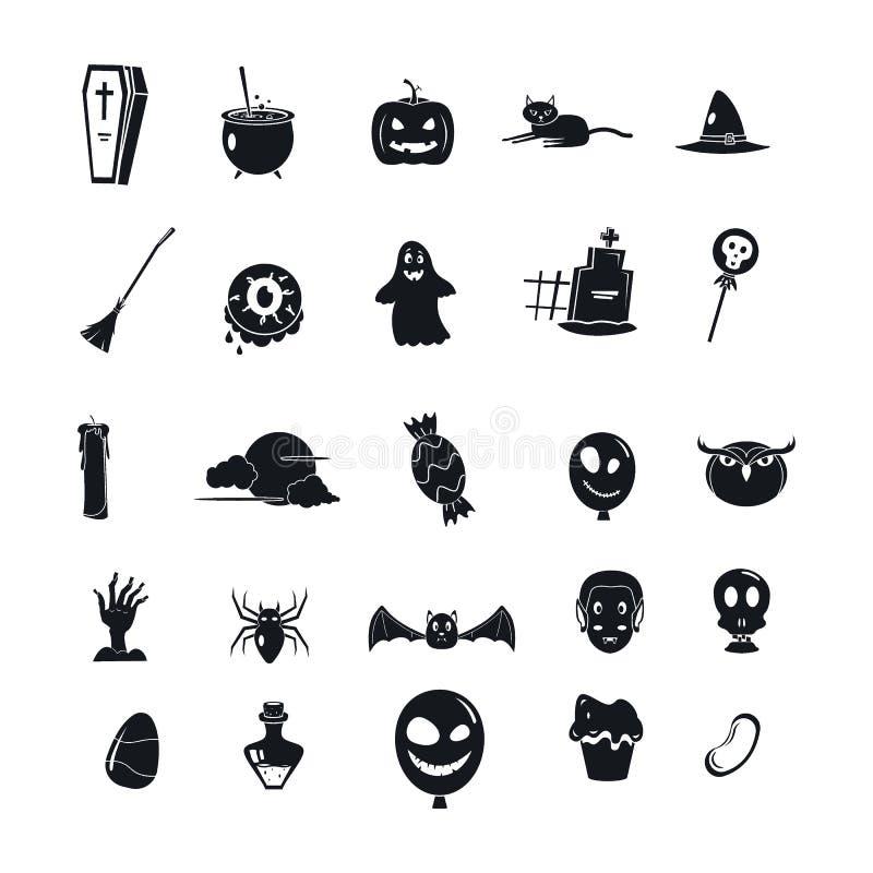 Halloween-de reeks van het partijpictogram, eenvoudige stijl vector illustratie