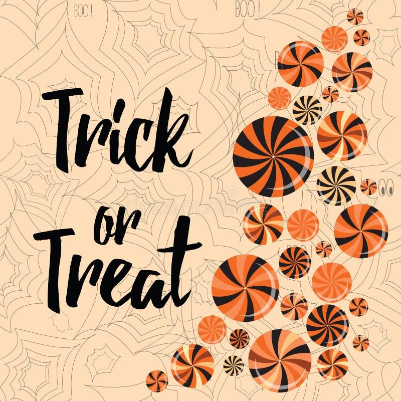 Halloween-de truc of behandelt banner leuk ontwerp royalty-vrije illustratie