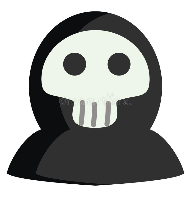 Halloween death mask vector illustration stock illustration