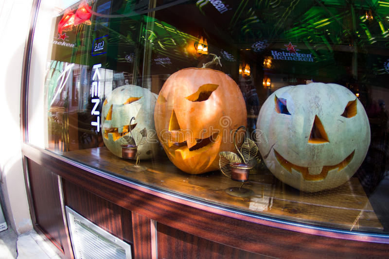 Download Halloween Decorated Window Editorial Stock Photo - Image: 21657173