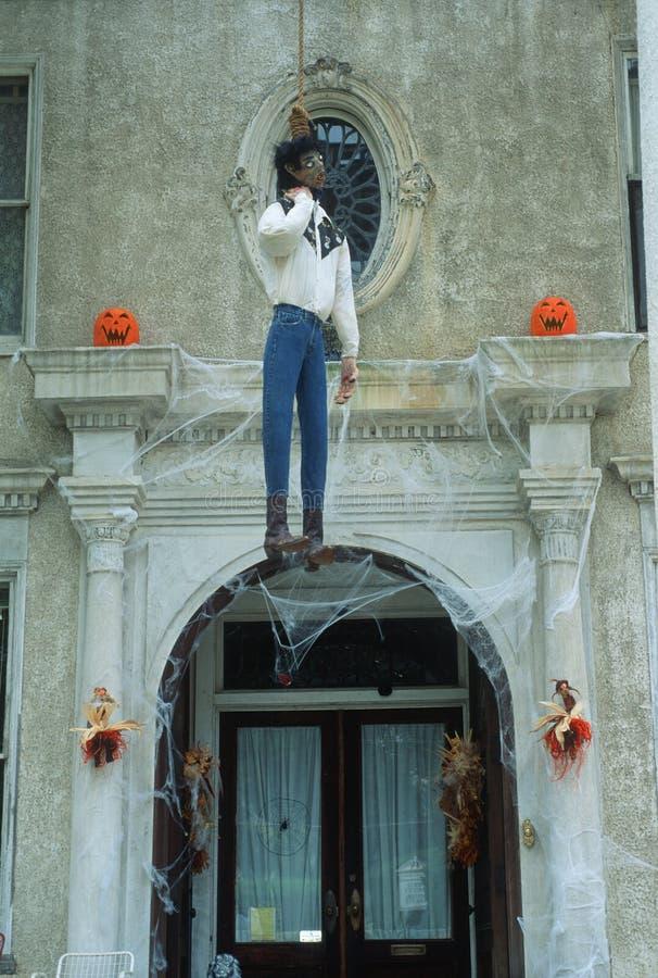 Halloween-Decoratie, Macon, Georgië royalty-vrije stock afbeelding