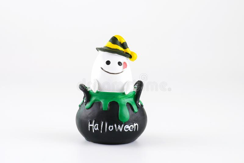 Halloween decoration accessory scary cute ghost isolated on white background royalty free stock photography