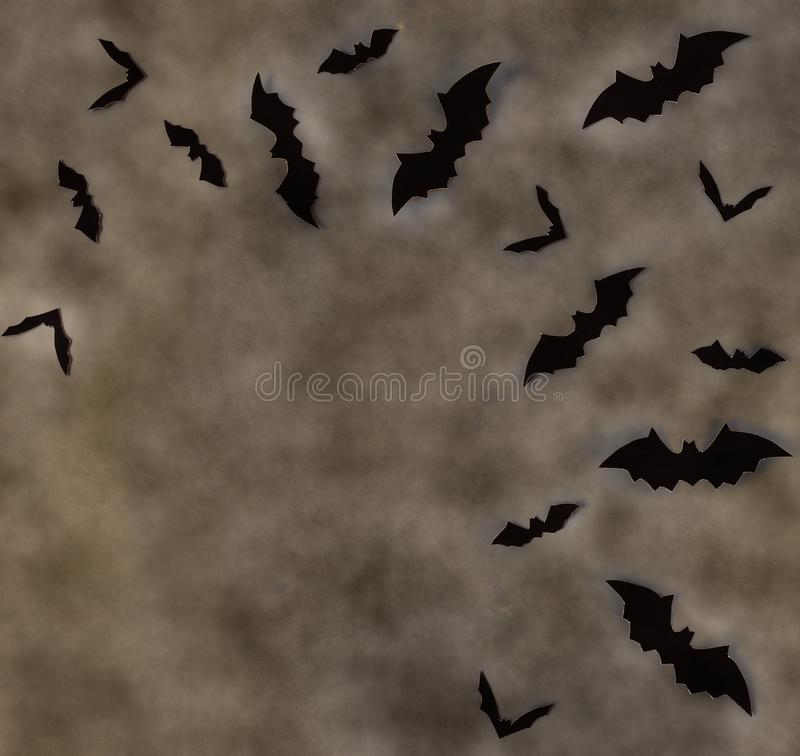 Free Halloween Decoration Background Top View Vintage Toned. Royalty Free Stock Images - 157596789