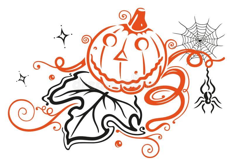 Halloween decoration vector illustration