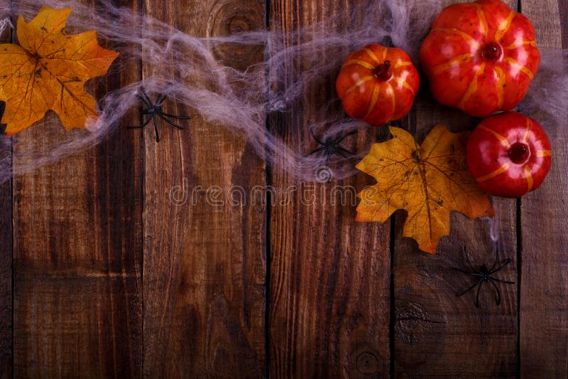 Halloween decorations background stock photos