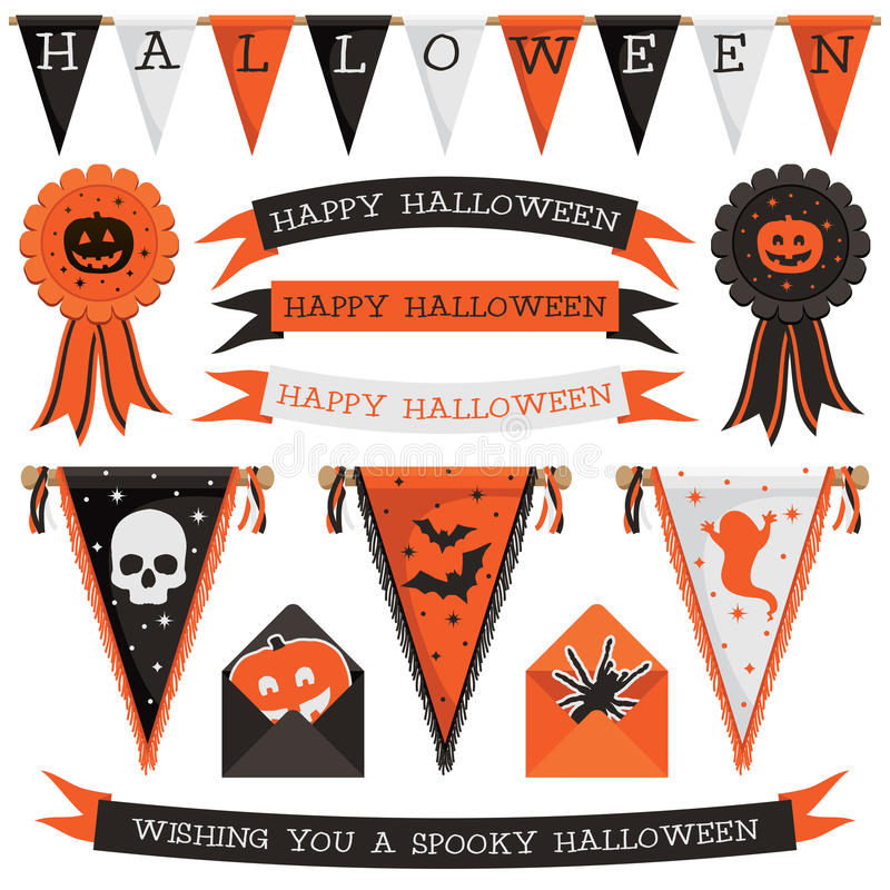 Halloween decorations stock illustration