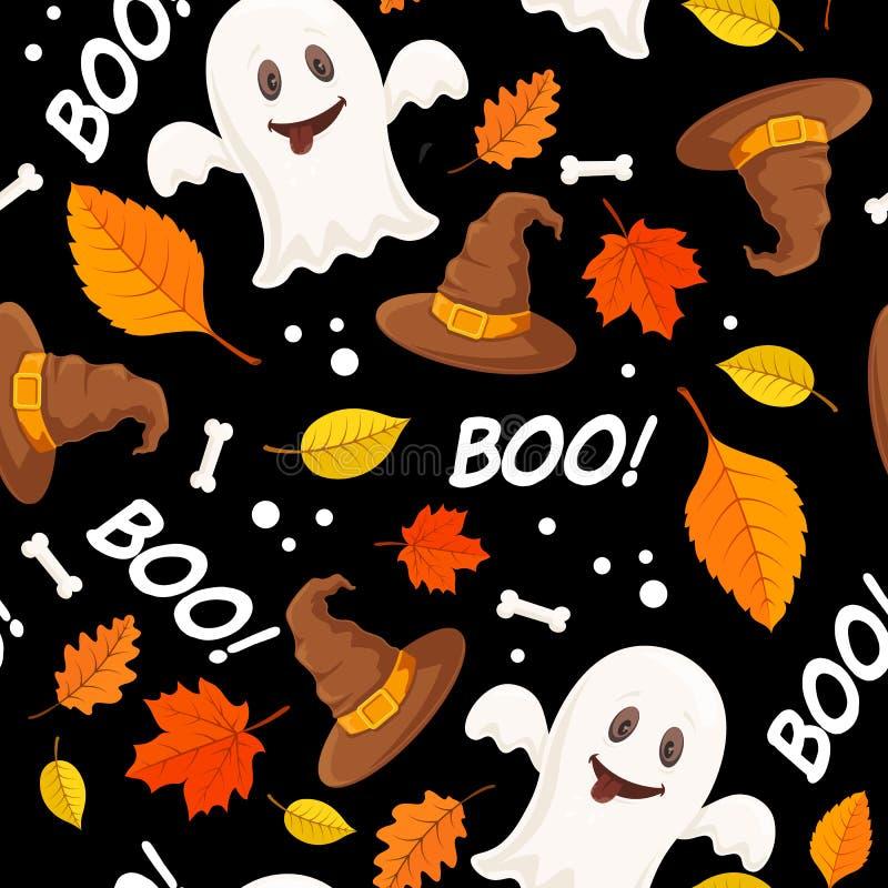 Halloween decorative seamless pattern. stock illustration