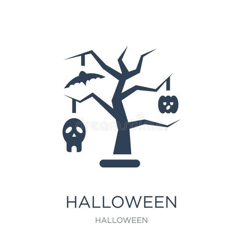 halloween dekoracji ikona w modnym projekta stylu halloween dekoracji ikona odizolowywająca na białym tle dekoracja Halloween ilustracji