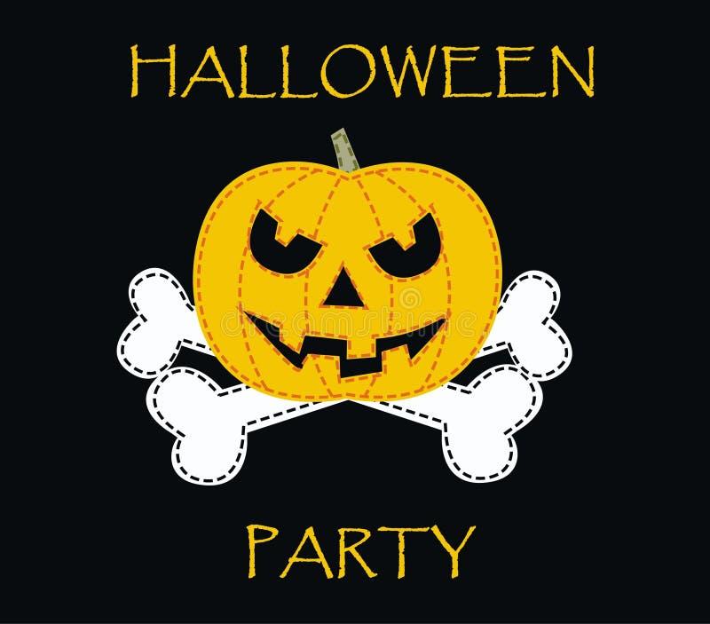 halloween deltagare stock illustrationer