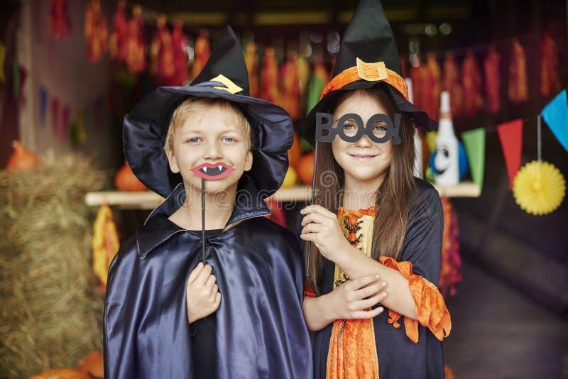 Halloween deltagare arkivfoto