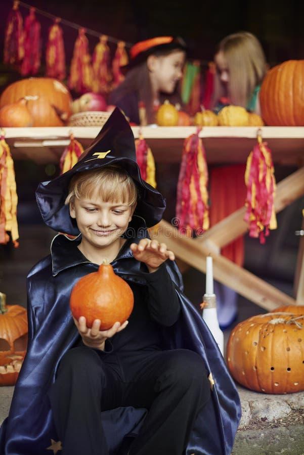 Halloween deltagare arkivbilder