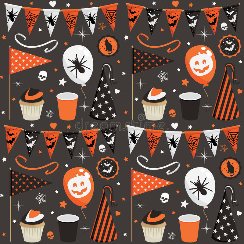 Halloween deltagaremodell stock illustrationer