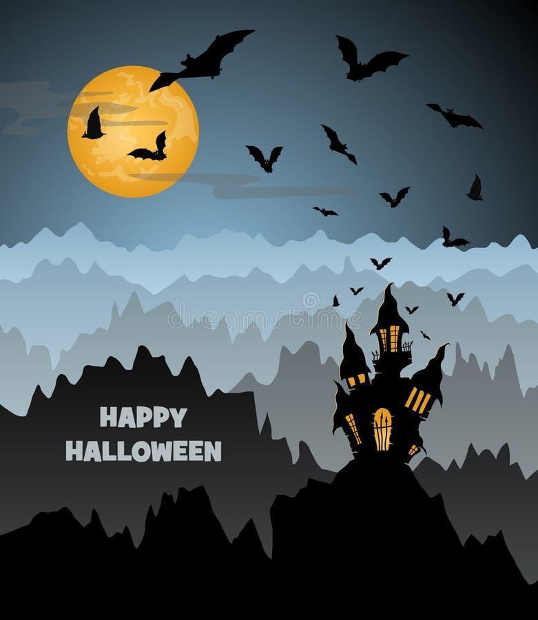 Halloween-Design stock abbildung