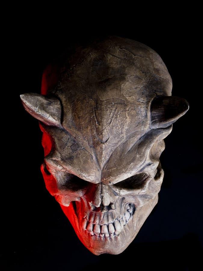 Halloween Devil skull stock photo