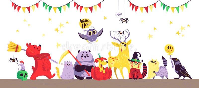 Halloween-dieren stock illustratie