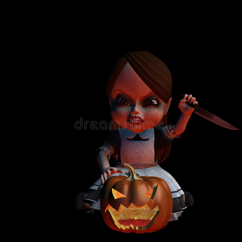 Halloween Doll 2 - Carving royalty free illustration