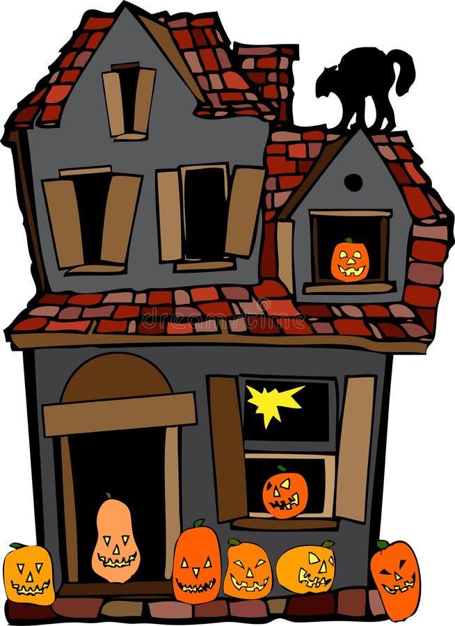halloween dom royalty ilustracja