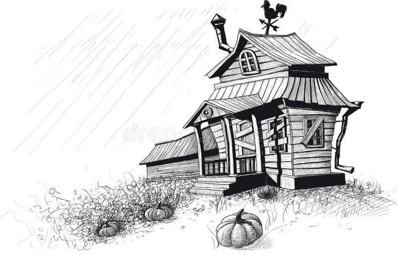 Halloween domowy czerń royalty ilustracja