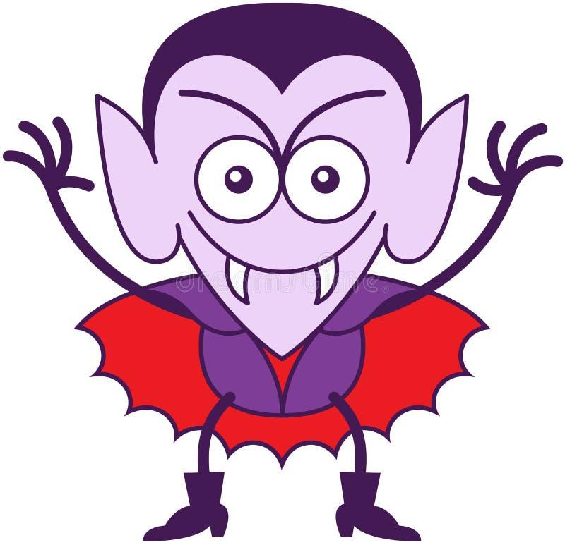Halloween Dracula die schadelijk zijn stock illustratie