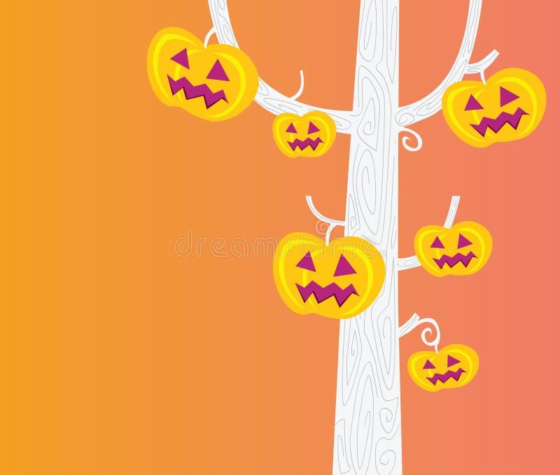 halloween drzewo ilustracji