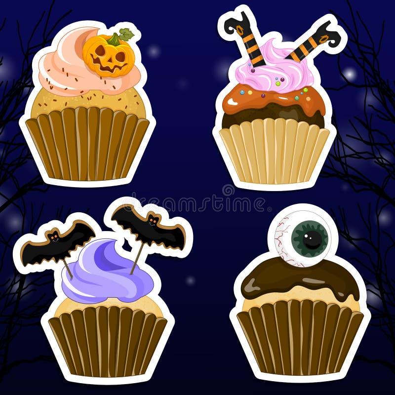 Halloween dwa stron plakat, ulotki lub menu projekta, royalty ilustracja