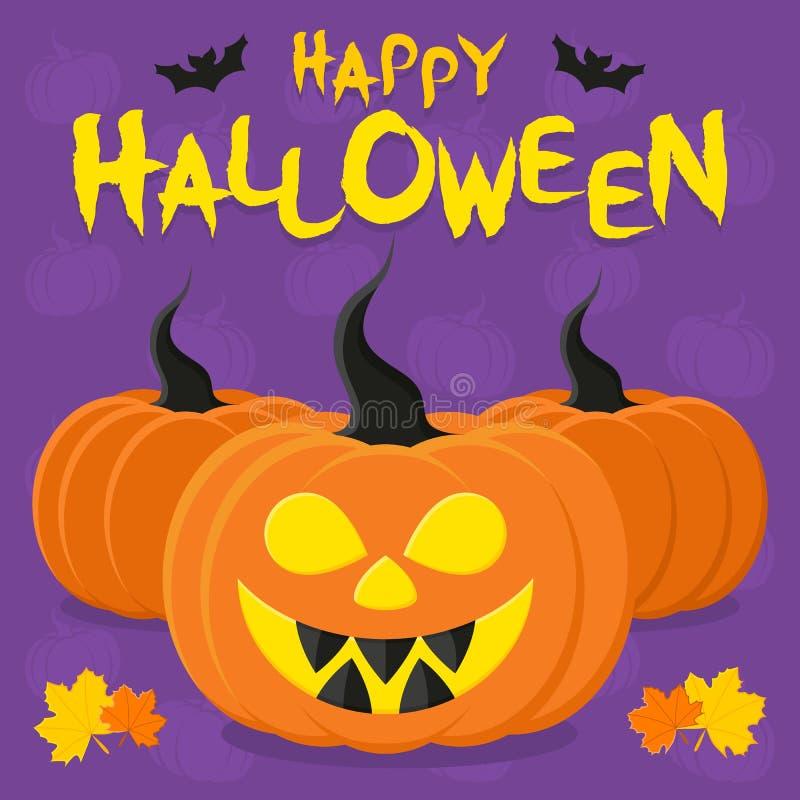 Halloween dynia rysunkowa Ilustracja wektorowa obraz stock