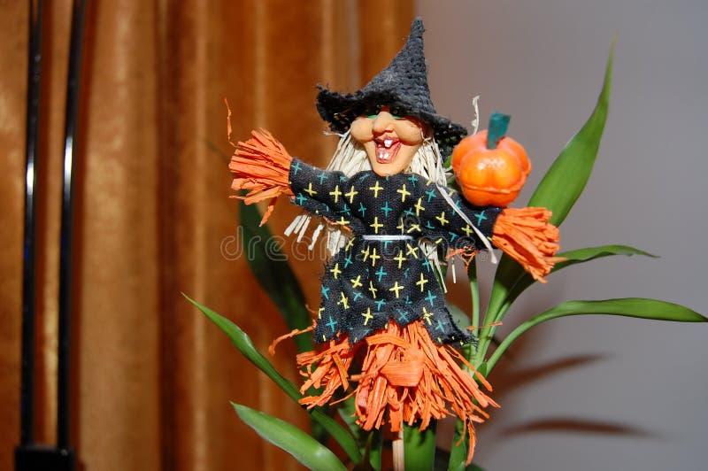 Halloween e la strega immagini stock