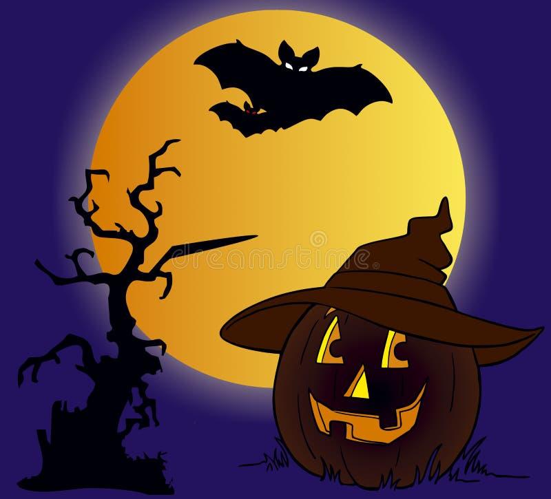 Halloween e zucca reale fotografia stock libera da diritti