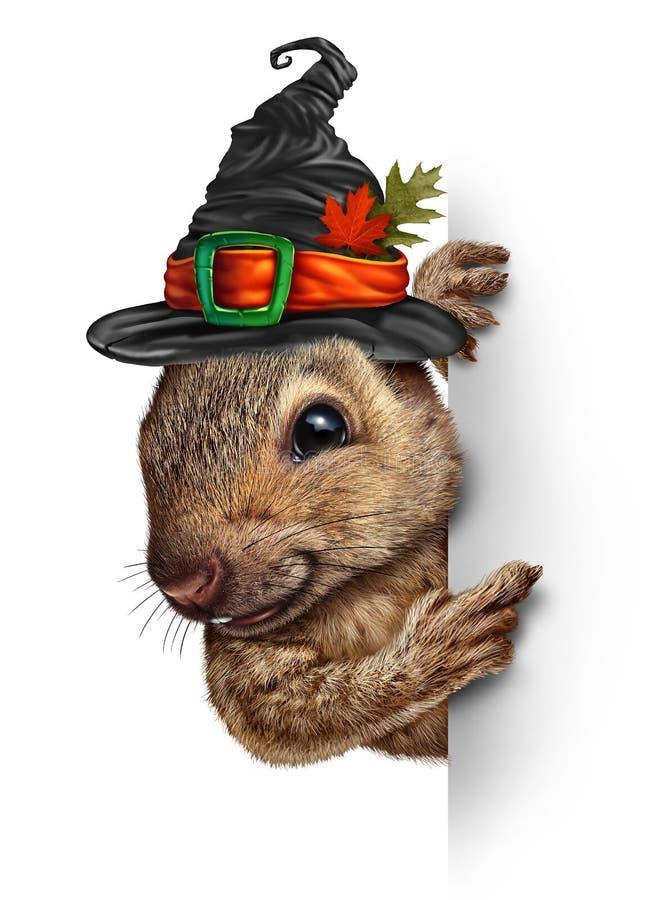 Halloween-Eekhoornbanner stock illustratie