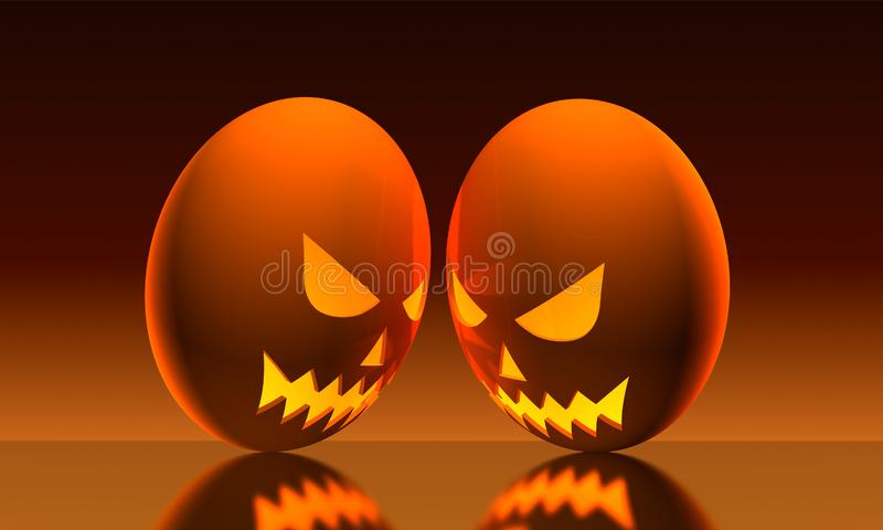 Halloween Eggs royalty free stock photography