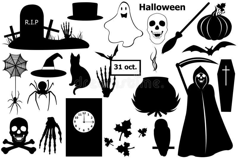 Halloween elements stock illustration